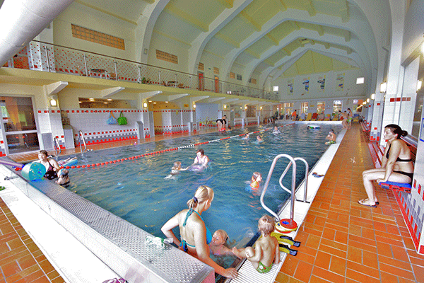 View of the indoor pool